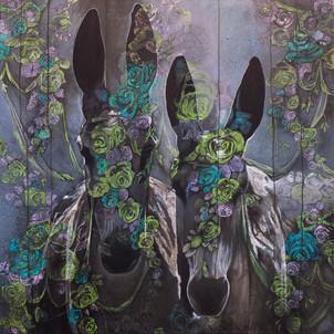 """"""" Donkeys"""" Bestiaire 2016 (sold)"""