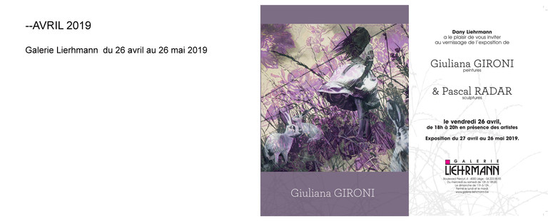 Expostion personnelle avril/mai 2019