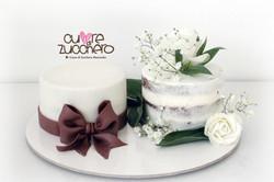 Naked cake, wedding cake