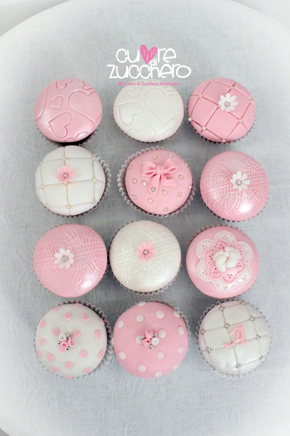 Cupcake nascita battesimo