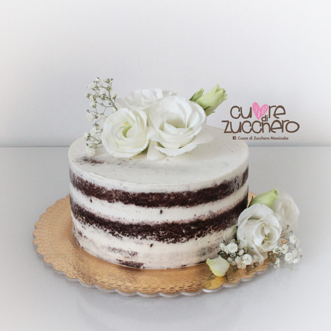 Naked cake, wedding cake