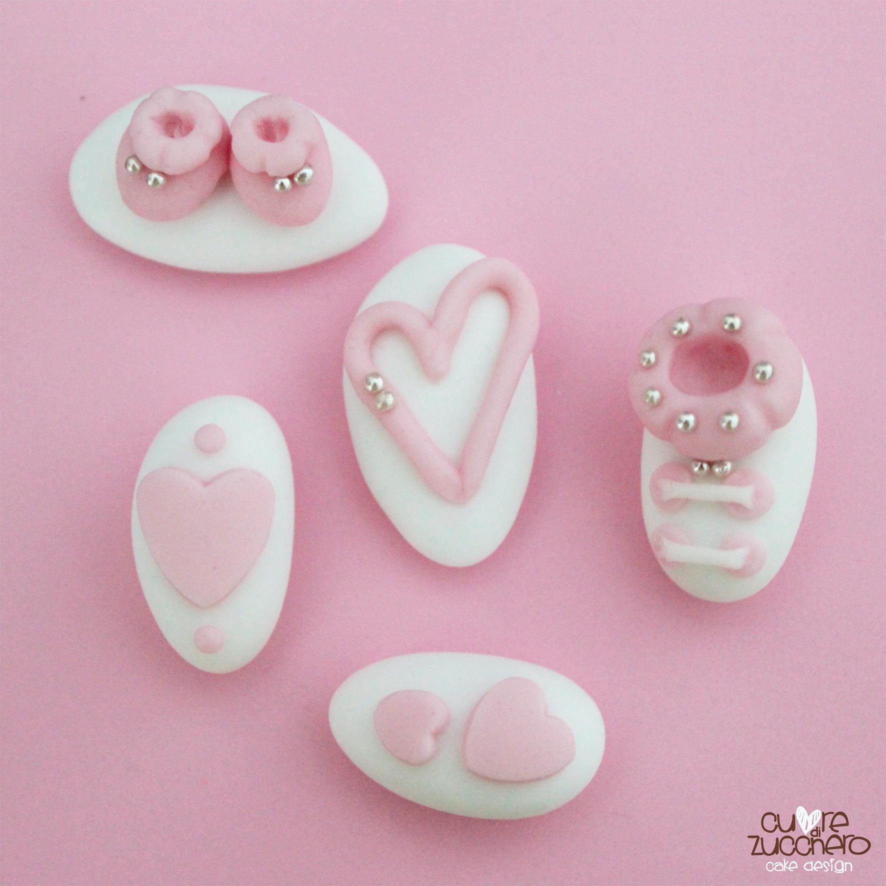confetti decorati bimba rosa