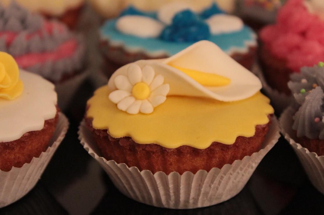 Cupcake calla e margherita