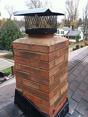 Brick chimney repair, Ashtabula County chimney repair