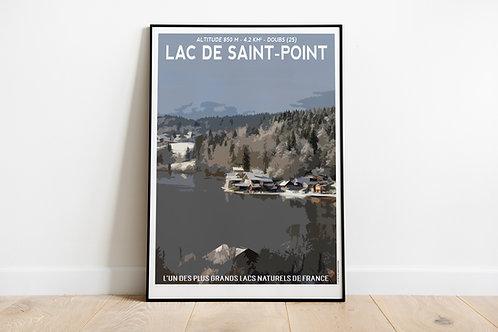 Affiche LAC DE SAINT-POINT