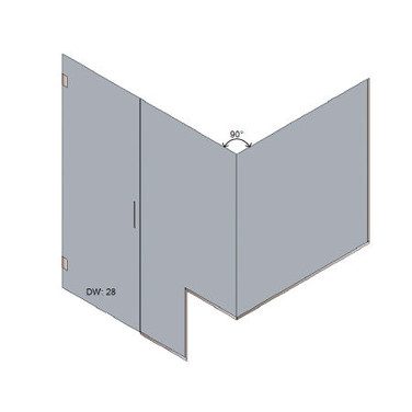 Estate Door & Panel + 90 Return