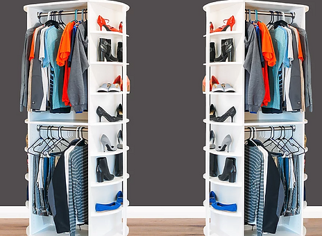 Double Hang spinning corner storage by LazyLee
