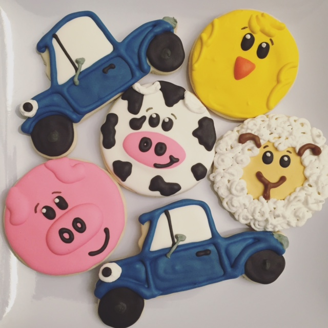Little Blue Truck Birthday Cookies