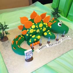 Dino shaped cake