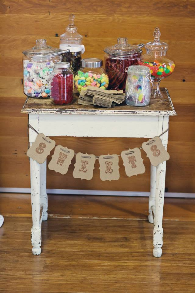 maclean wedding candy table