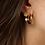Thumbnail: Boucles d'oreilles Daisy with pearl