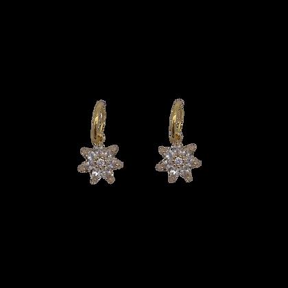 Boucles d'oreilles Zirconia Flower