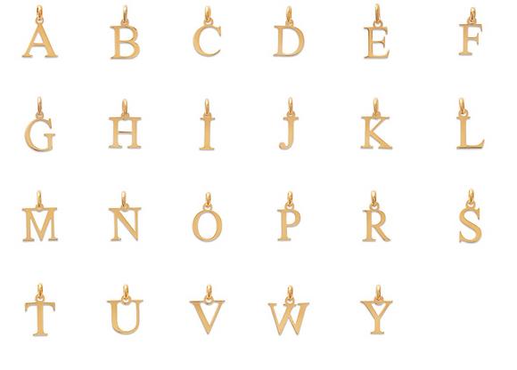 Pendentif Lettre