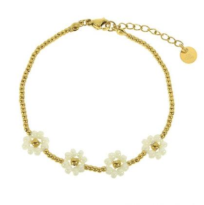 Bracelet Marguerites gold