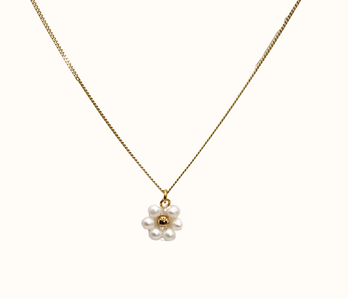 Collier Freshwater pearl Flower