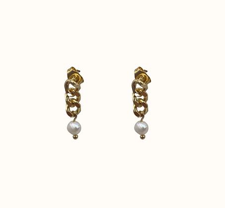 Boucles d'oreilles Chain witha pearl