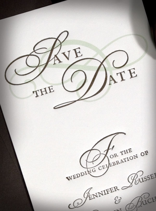 Plantation Letterpress Wedding