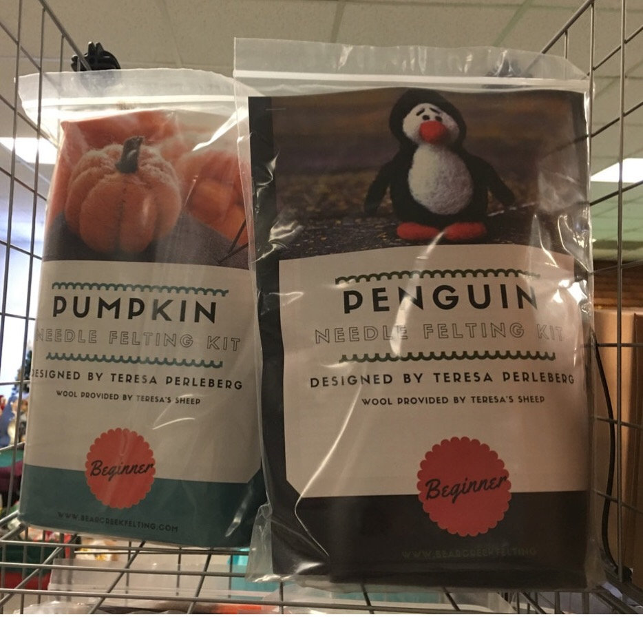 Beginners Wool Needle Felting-pumpkin