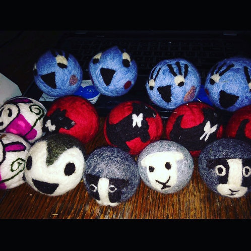Wool Dryer Balls 3pk - with designs