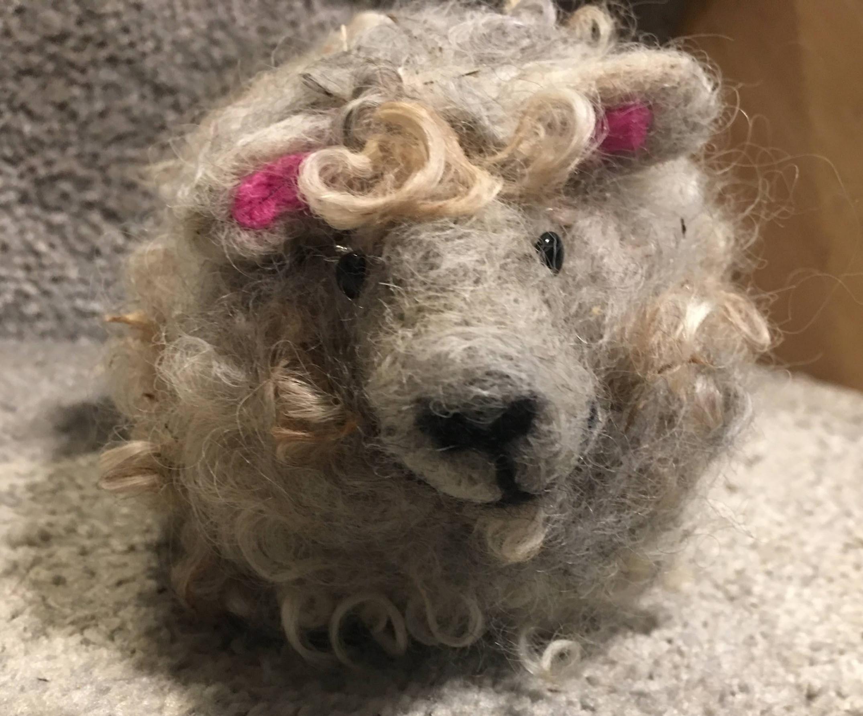 Beginners Wool Needle Felting- sheep