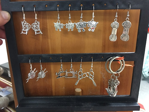 Earrings and Keychains