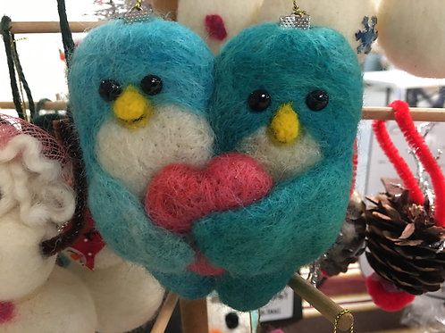 Couple/Family Felted Ornaments