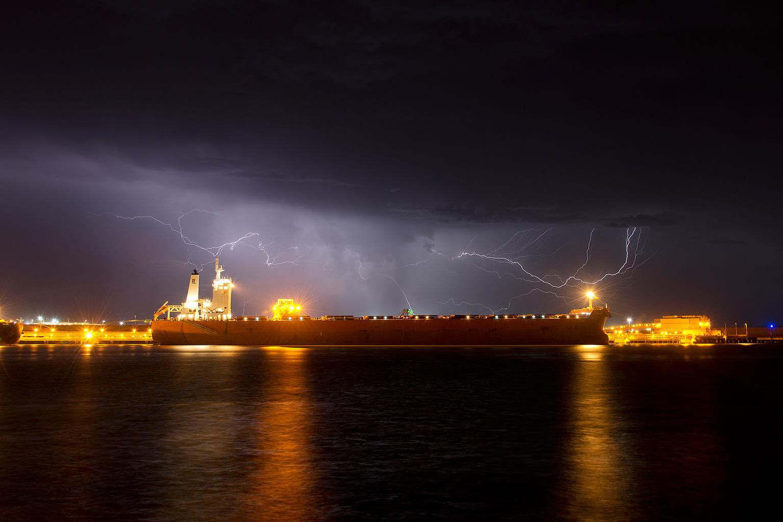 140117-109-Lightning-over-Docked-Ship