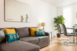 Sofa to dining feature