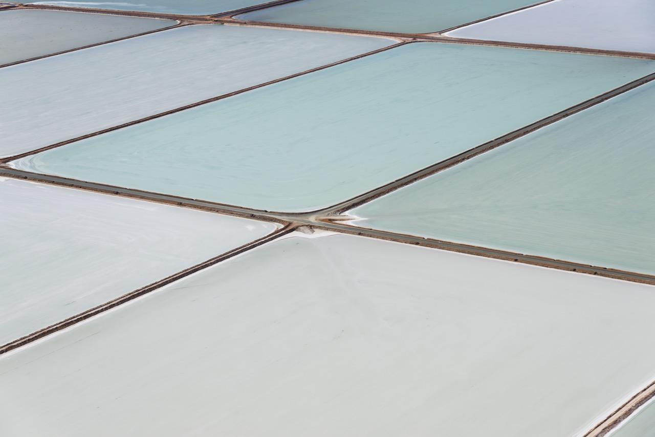 140711-1 Salt Fields Abstract Aerial