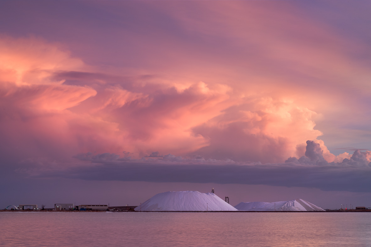 150303-278-281 Pink Sunset Clouds over Salt