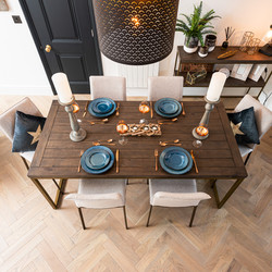 View down to dining table