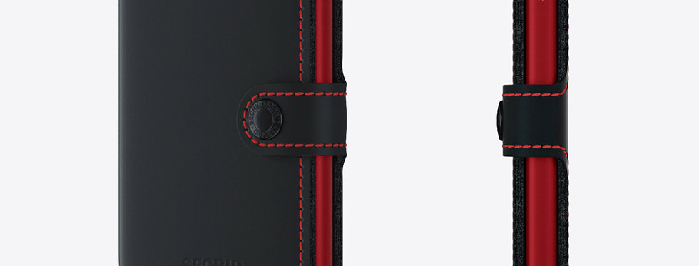 Secrid Miniwallet MM-Matte Black&Red