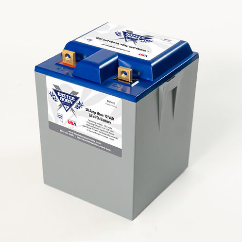 LiFePO4 Deep Cycle Battery, 12V 50AH