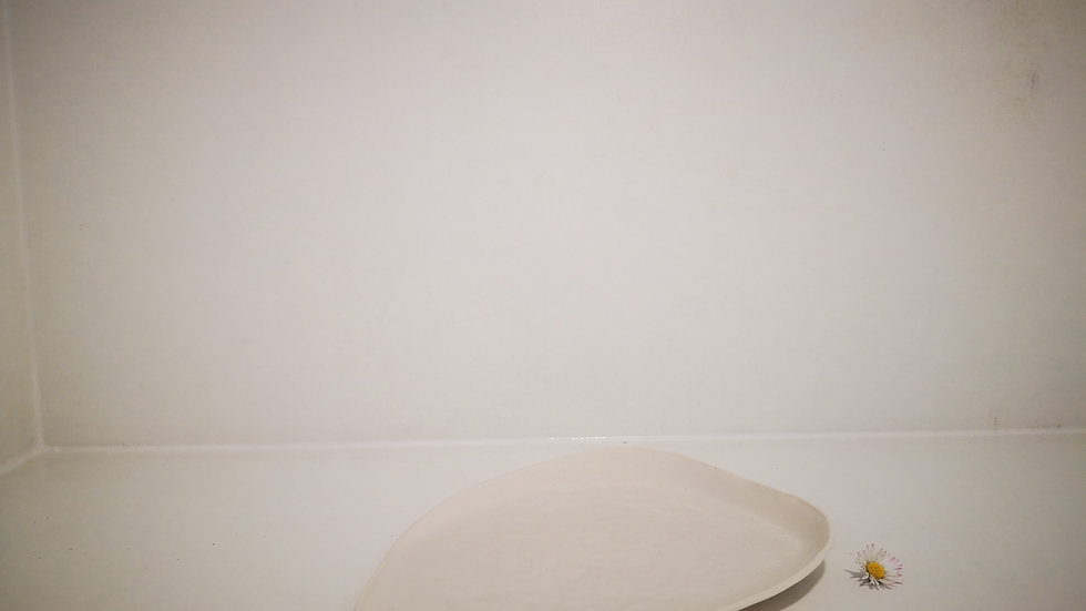 Petite assiette galet porcelaine
