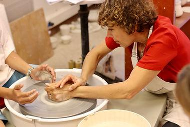 cours tournage céramique atelier