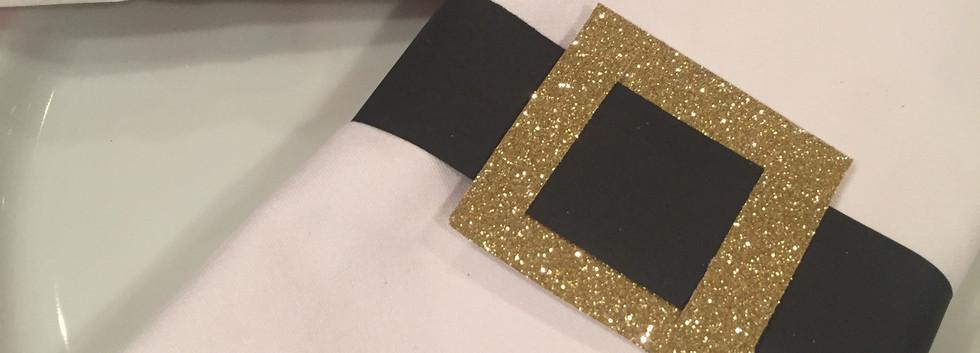 santa belt napkin & favor