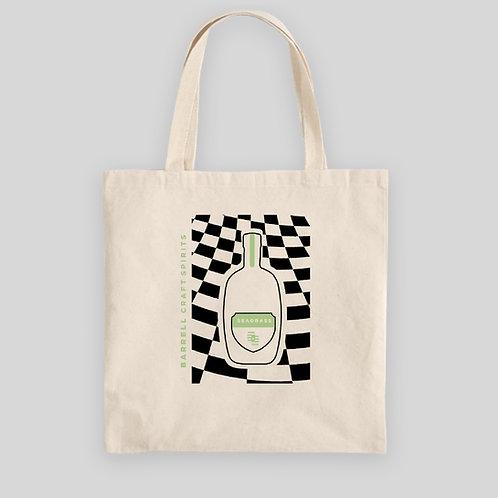 BCS Seagrass Checkered Tote Bag