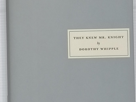 Book Talk: They Knew Mr Knight by Dorothy Whipple