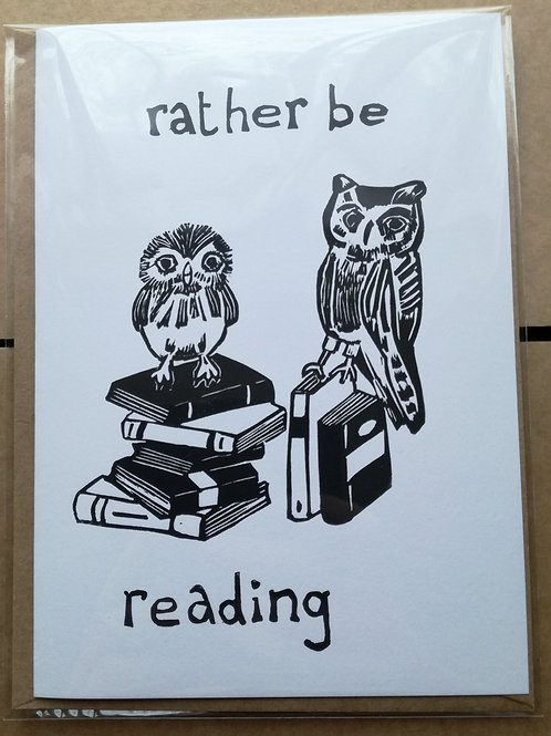 Rather Be Reading Card
