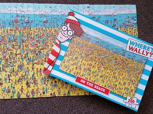 Where's Wally on the Beach 250 Piece Jigsaw