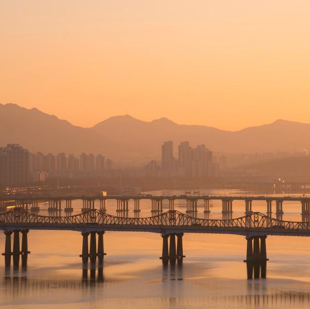 Sunset at Eungbongsan, seoul