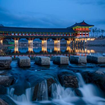 Blue hour at Woljeonggyo, Gyeongju