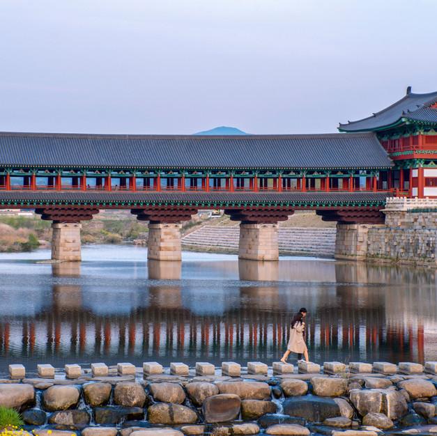 Crossing at woljeonggyo, Gyeongju