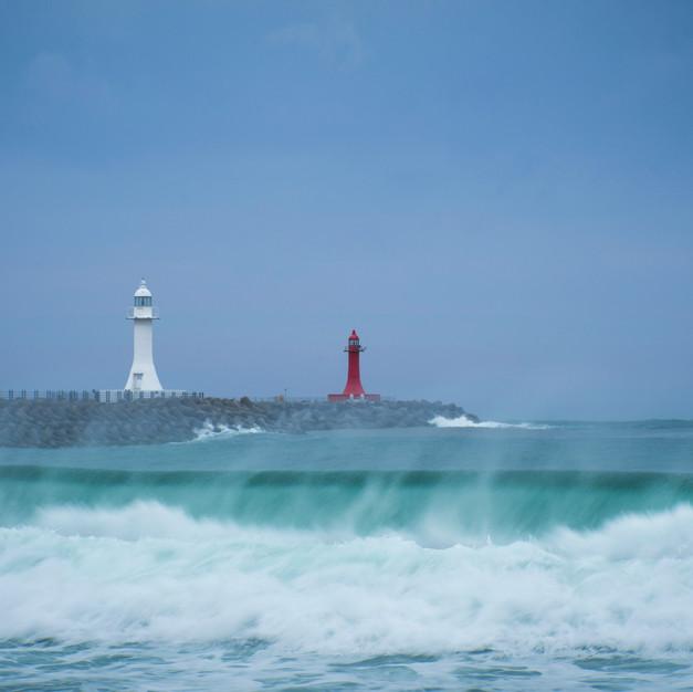 Sokcho beach post typhoon