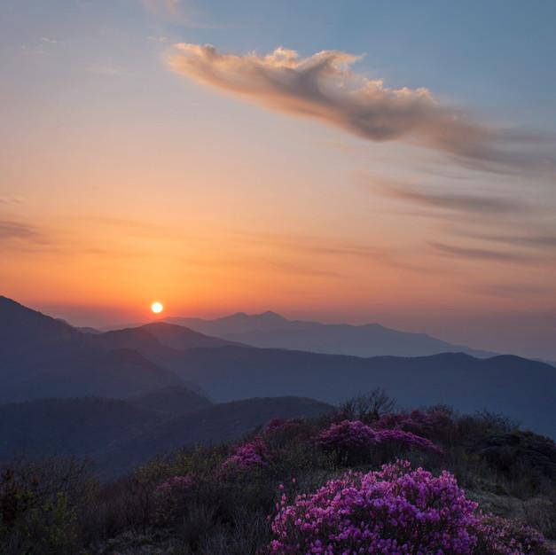 Sunrise at Jirisan National Park