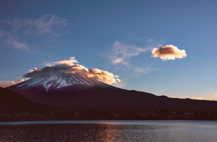 Sunset at Lake Kawaguchi