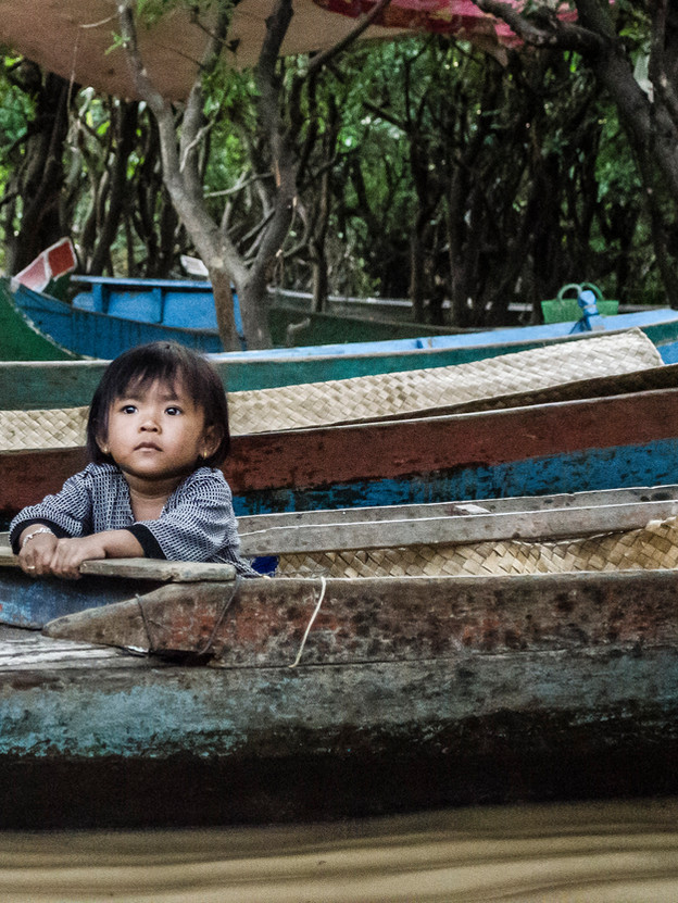 Child in a boat.