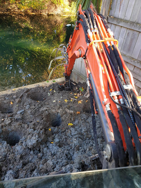 excavator works