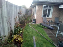 Landscaping Before