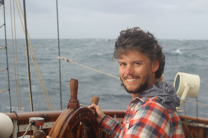 Captain Sean at sea
